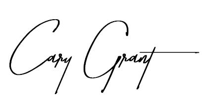 Cary Grant Signature